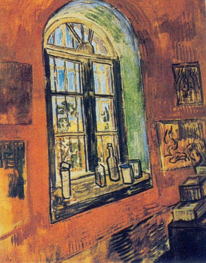 vincent's studio at the asylum where he died