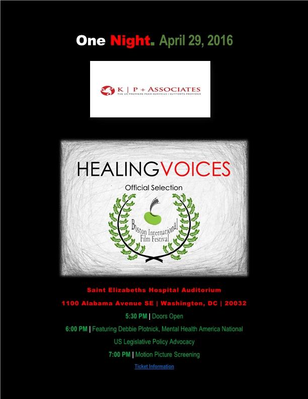 healing voices promo flier