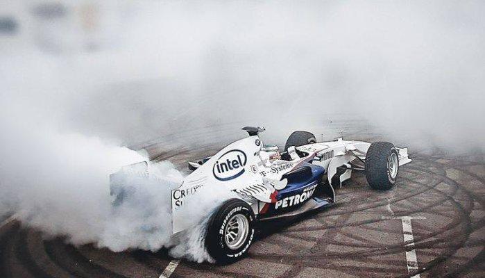 racecar doing spins